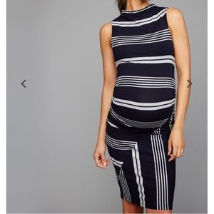 Striped Side Ruched Maternity Dress!